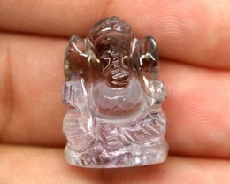 AMETRINE CARVING-INDIAN LORD GANESH 16.65CTS LT-476