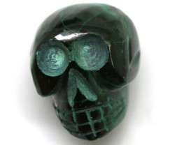 MALACITE SKULL CARVING 42.95 CTS LT-447