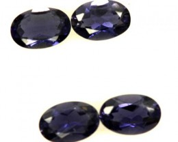 IOLITE FACETED STONE (2 PAIR) 1.50 CTS  PG-1320