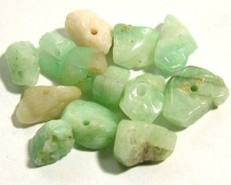 EMERALD BEAD UNTREATED DRILLED 25 PCS 40 CTS NP-1333