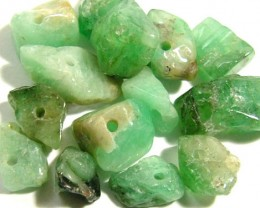 EMERALD BEAD UNTREATED DRILLED 32 PCS 41 CTS NP-1334