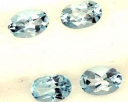 BLUE TOPAZ NATURAL FACETED (4 PCS)  1.60  CTS   PG-1467