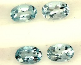 BLUE TOPAZ NATURAL FACETED (2 PCS) 1.50 CTS  PG-1404