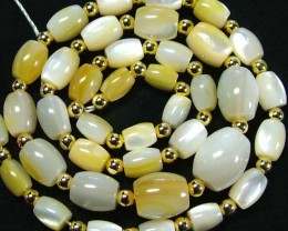 MOTHER OF PEARL BEAD STRAND 173.20 CTS [PF1738]