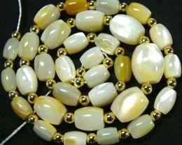 MOTHER OF PEARL BEAD STRAND 157.80 CTS [PF1746]