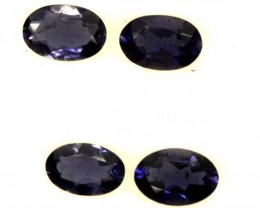 IOLITE FACETED STONE (4 PCS) 1.40 CTS  PG-1302
