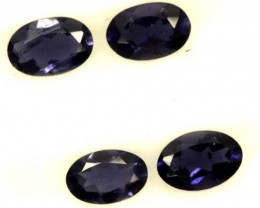 IOLITE FACETED STONE (4 PCS) 1.35 CTS  PG-1313