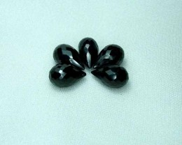 Natural Black Spinel Faceted Briolettes A298