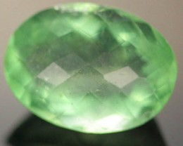 GEM GRADE FLUORITE  -CHECKERBOARD CUT   12.90CTS [S515 ]