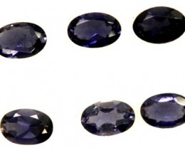 IOLITE FACETED STONE (6 PCS) 2.05  CTS   PG-1292