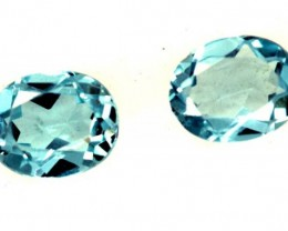 BLUE TOPAZ NATURAL FACETED ( 2 PCS) 0.75 CTS  PG-1343
