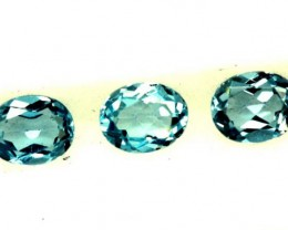 BLUE TOPAZ NATURAL FACETED ( 3 PCS) 1.30 CTS  PG-1342