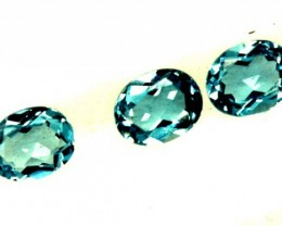 BLUE TOPAZ NATURAL FACETED ( 3 PCS) 1.20 CTS  PG-1345