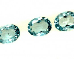 BLUE TOPAZ NATURAL FACETED ( 3 PCS) 1.20 CTS  PG-1346