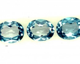 BLUE TOPAZ NATURAL FACETED ( 3 PCS) 1.15 CTS  PG-1331