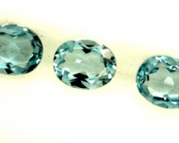 BLUE TOPAZ NATURAL FACETED ( 3 PCS) 1.15CTS  PG-1384
