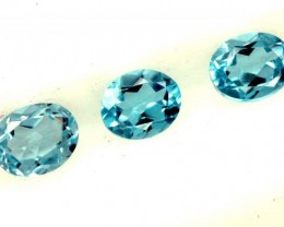 BLUE TOPAZ NATURAL FACETED (3 PCS) 1.15 CTS  PG-1385