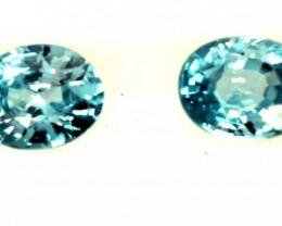 BLUE TOPAZ NATURAL FACETED (2 PCS) 1.15 CTS  PG-1334