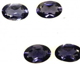 IOLITE FACETED STONE (4 PCS) 1.40 CTS  PG-1307