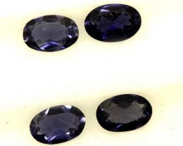 IOLITE FACETED STONE (4 PCS) 1.35 CTS  PG-1301