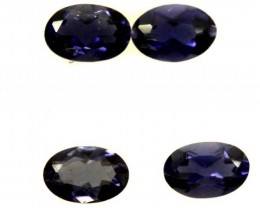 IOLITE FACETED STONE (4 PCS) 1.30 CTS  PG-1308