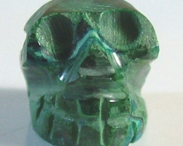 CHRYSOCOLLA SKULL CARVING 10 CTS FT-1591 (FT-GR)