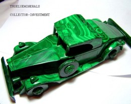 ANTIQUE MALACHITE CAR RARE COLLECTOR ITEM  4125 CTS