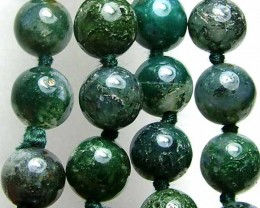 100% Natural African Moss Agate Beads B618