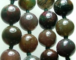 100% Natural African Moss Agate Beads B619