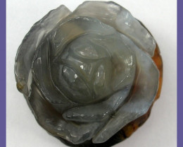 """SUPERB ROSE CARVING!! MEXICAN AGATE PENDANT BEAD-130CT - STUNNING!!&a"