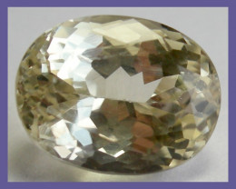 """DELIGHTFUL 7.83CT, VVS YELLOW OVAL SPODUMENE (TRIPHANE)!!"