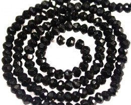 NATURAL BLACK SPINEL BEAD STRAND 36.30 CTS [MX7798]