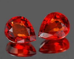 1.08 Tcw. Songea Sapphire Hearts, Small, Lovely Matched Gems