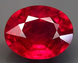 This gem is earth mined Ruby, lead glass used to enhance clarity.  Identical, treatments to gems sold at Macys and thousands of finest retailers. (Untreated Rubies are remarkably unattractive.)