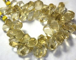 304.50 CTS VVS FELDSPAR BEADS TWIST FACET  - (PG-GR)