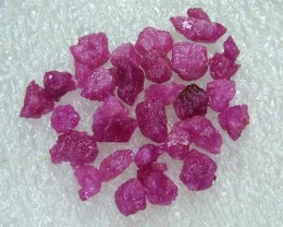 40.90cts Natural Ruby Gemstone Rough Parcel R25