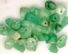 EMERALD BEAD UNTREATED DRILLED 27 PCS 40 CTS  NP-1326