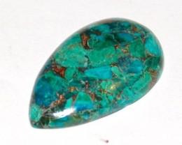 AAA Grade Drop shape Bronzed Chrysocolla 31 by 18 by 5.5mm