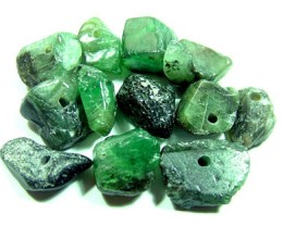 EMERALD BEAD UNTREATED DRILLED 20 CTS FNP-2682 (NP-GR)