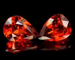 SPESSARTITE GARNET 1.69 CARAT WEIGHT PEAR CUT GEM PARCEL 2PC