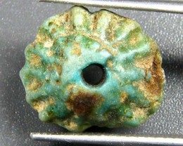 Egyptian Faience Artifact bead OP 1823