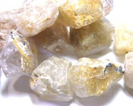 NATURAL RUTILATED QUARTZ  ROUGH DRILLED  817CTS TBG-119