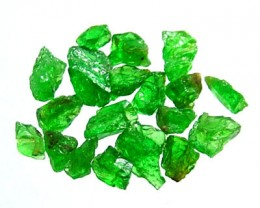 5 CTS TSAVORITE ROUGH CRYSTAL GREEN (PARCEL)  RG-603