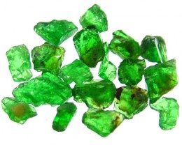 5 CTS TSAVORITE ROUGH CRYSTAL GREEN (PARCEL)  RG-604