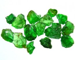 5 CTS TSAVORITE ROUGH CRYSTAL GREEN (PARCEL)  RG-606