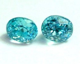 ZIRCON FACETED STONE (2 PC) 1.45 CTS   PG-1167