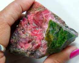 700 CTS RHODONITE-HELVITE RARE GREEN COLLECTOR SPECIMEN AAA QUALITY