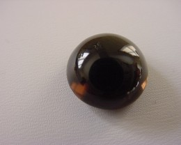 SMOKEY QUARTZ CABOCHON 16.30 CARAT WEIGHT ROUND CUT GEMSTONE