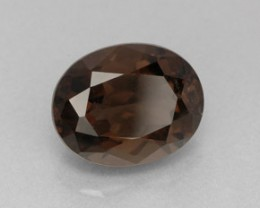 SMOKEY QUARTZ 3.40 CARAT WEIGHT OVAL CUT GEMSTONE BEAUTY NR