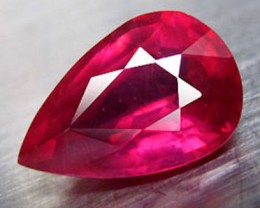 3.42 Carat VS Ruby Pear - Superb